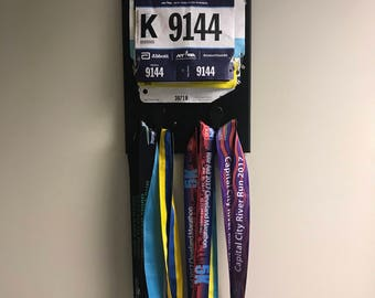 5K Race Number and Medal Holder