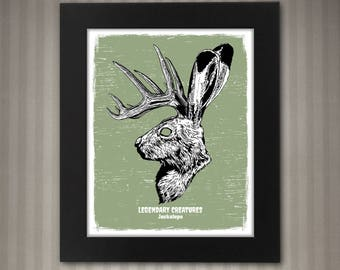 Jackalope - Legendary Creatures Art - 8x10