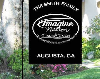 Grand Design Imagine FB Group Campground Site Flag with personalization