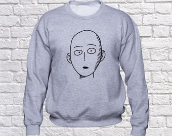 One Punch Man sweatshirt/ Saitama hoodie/ Anime pullover/ Japanese anime/ One-Punch Man/ sweater/ jumper/ hoody/ Superhero/ Bald/ (B170)