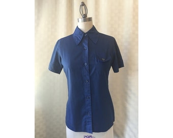 1950s Womens Shirt Blouse by Lady Manhattan, Size Medium