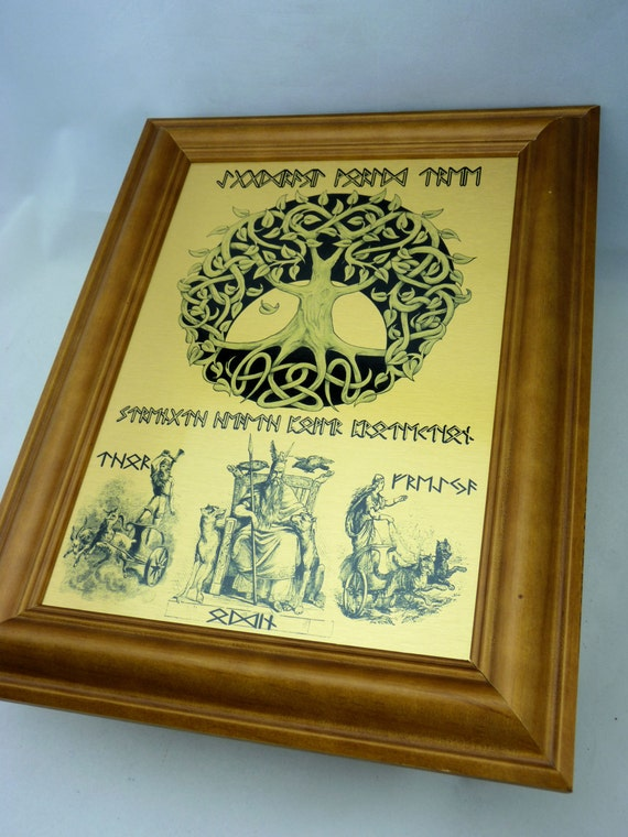 Rune Viking Yggdrasil World Tree WALL ART Odin Thor &