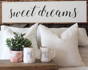 Sweet Dreams | Framed Wood Sign | Farmhouse Decor