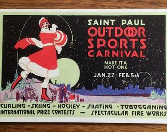 1916 Saint Paul Outdoor Sports Carnival Postcard