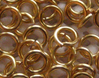 Jump Rings 100 -- 18 ga 3.5mm Non Tarnish Gold Jump Rings