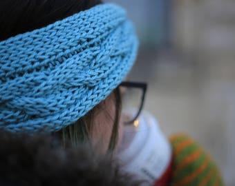 Powder Blue Hand Knitted Headband