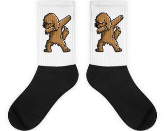 Funny Dabbing Goldendoodle Socks, Cute Goldendoodle Gift, Dog Dab Dance Print
