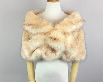 Champagne faux fur bridal wrap, light brown fur,  Wedding Fur shrug, Fur Wrap, Bridal Faux FurStoleFur Shawl Cape (Blair Cha01)