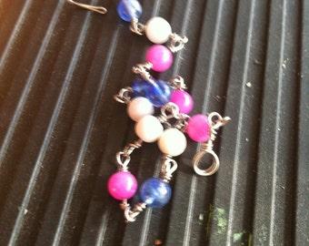 Pink, White, & Blue Trans Pride Bracelet