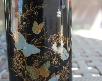 Black Butterfy Vase 2603
