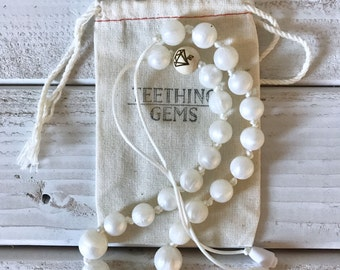 Pearl Silicone Teething Necklace || Nursing Neckace || Silicone Beaded Necklacs || Mothers Nursing Necklace