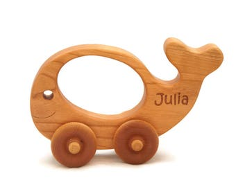 Wooden Toy Car, Personalized Toy Car, Wood Car, Toddler Toy Whale, Personalized Gift, Personalized Toy, Wooden Toy