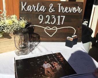 Wedding Sign with tying the knot