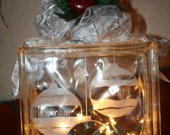 Personalized Christmas Night Light, Holiday Decoration, Special gift, Family names