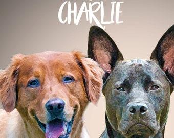 Custom Pet Portrait (Digital Copy)