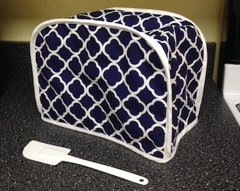 Toaster Cover Navy Blue and White Kitchen Decor Small Appliance Cover Ready to Ship
