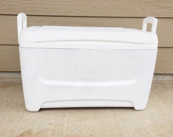 Sanded, Primed and Spackled 48qt cooler - Ready to Paint
