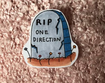 cute hand-drawn one direction tombstone sticker