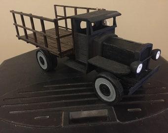 Handmade lumber truck