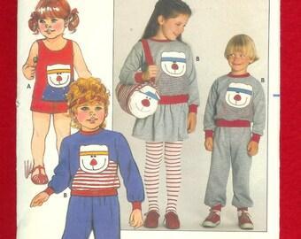Butterick 6912 Children's Top, Skirt, Shorts, Pants, & Bag, Size 3, UNCUT