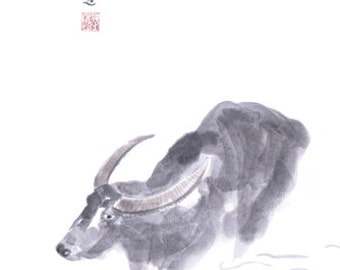 Chinese Zodiac Ox 8x10 print