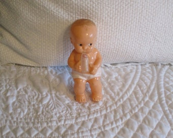 Vintage Irwin Plastic Baby Doll with Bottle Rattle ADORABLE!