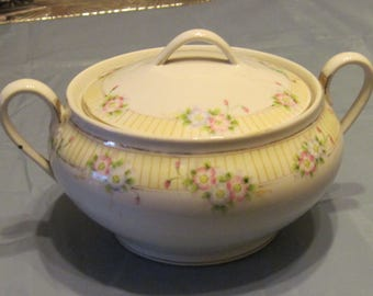 "Hand Painted ""Nippon"" Covered Casserole Dish"