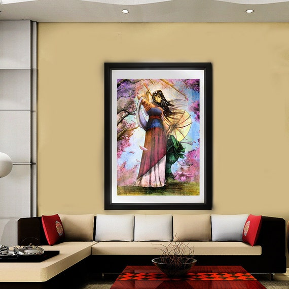 Mulan // Wall art // Art print // Disney // Ping // Heroine of