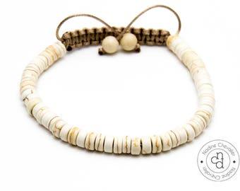 Men - Shamballa bracelet handmade with naturals beads of Turquoise  / 6mm