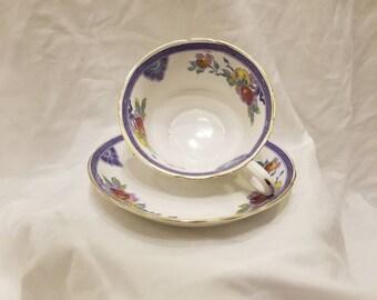 Blue & Gold Tea Cup Set
