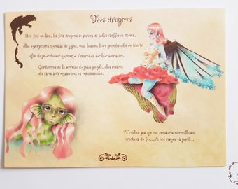 Postcard - fairy dragons