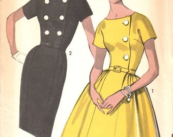 Advance 2958 Magical Dress with Two Skirts / ca. 1962 / SZ18 UNCUT