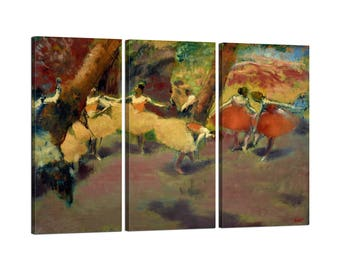 Painting on canvas by Edgar Degas Frame Before the Performance