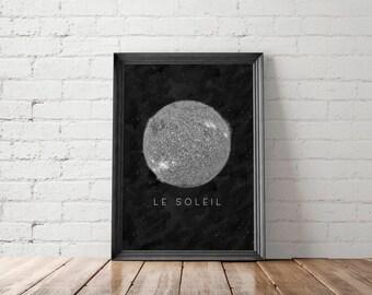 Sun Print, Space Print, Sun Poster, Sun Printable, Sun Photography, Space Wall Art, Space Printable Art