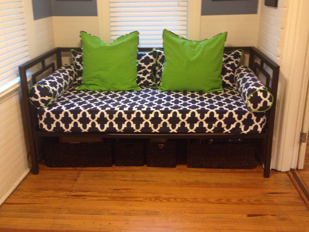 zoom fitted daybed cover in twin twin xl and full mattress cover  rh   etsy