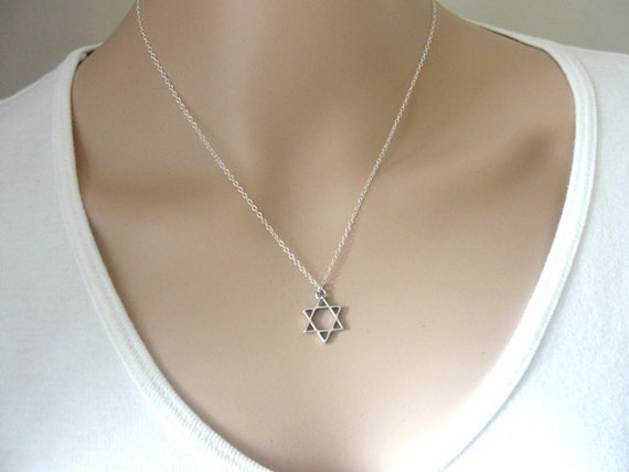 Star of david necklace silver necklace magen david necklace star of david necklace silver necklace magen david necklace sterling silver star of david necklace dainty necklace jewish jewelry aloadofball Image collections