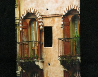 Single Switchplate Cover - Brown Home in Verona