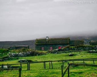 Irish Farm Photo, Digital Download, Ireland Landscape, Travel Art, Country Art, Ireland Photography, Rustic Landscape, Instant Download