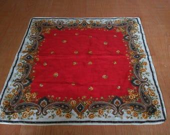 Vintage Paisley Handkerchief Vintage Handkerchief Paisley