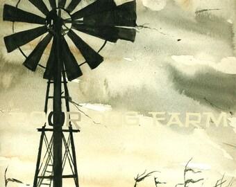 October Winds - watercolor print
