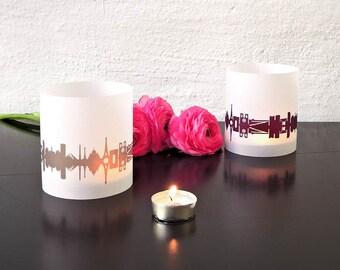 2 Light Covers PARIS for Tea Light, PARIS luminary table light, Paris paper lantern, personalised wedding decor, for Paris Lover, Paris gift