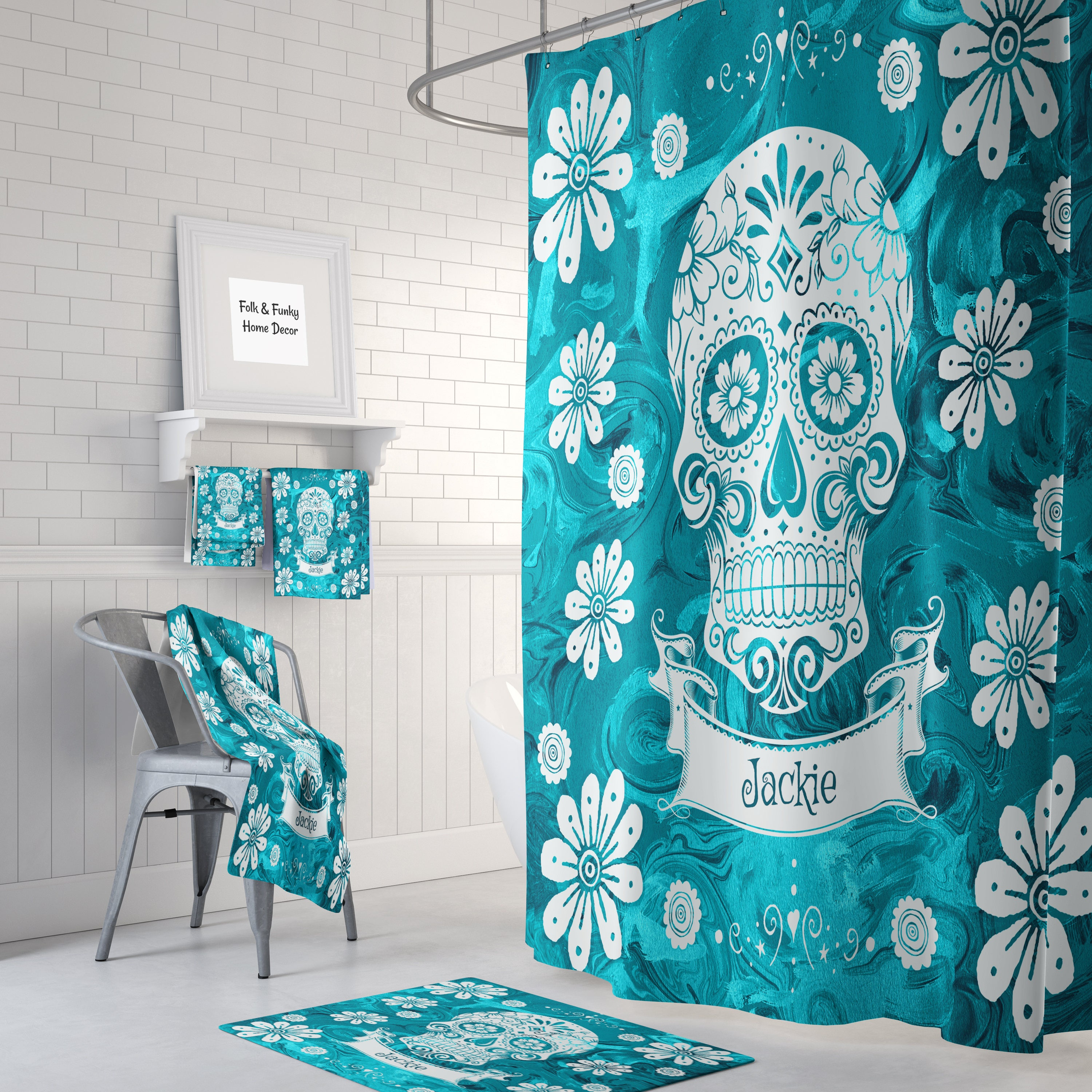 Sugar Skull Bathroom - talentneeds.com -