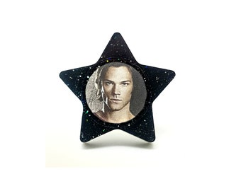 Sam Winchester Supernatural Statement Ring / Jared Padalecki Resin Gift for Her / Demon Angel wings Castiel Cosplay / Statement Jewelry Geek