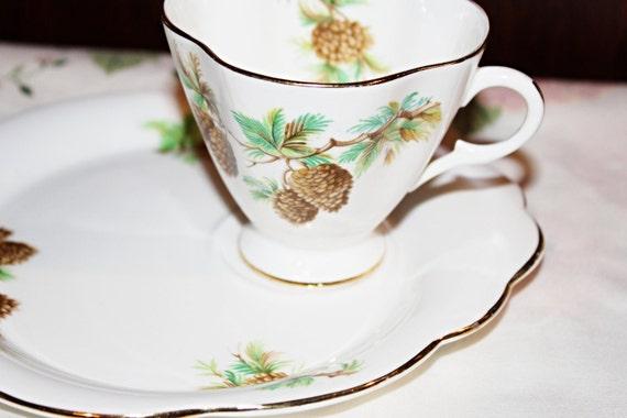 Vintage Windsor Bone China snack Hostess Set Teacup and