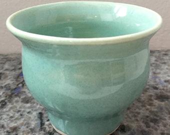 Small aqua ceramic ring holder