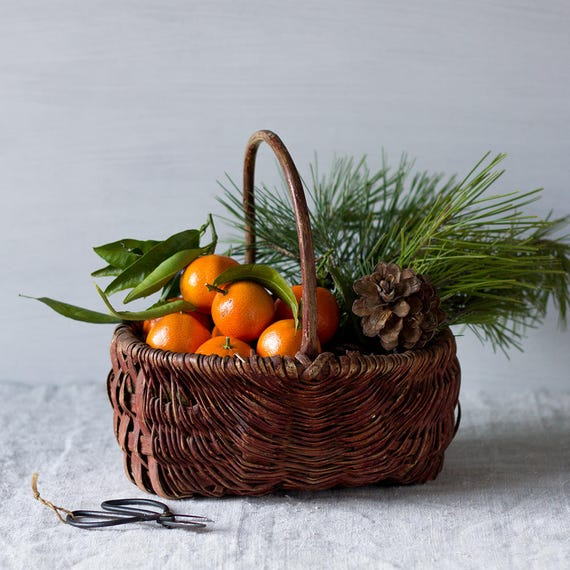 Classic French Woven Red Basket