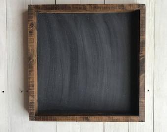 Framed Chalkboard. Kitchen Chalkboard. Rustic Chalkboard. Wedding Chalkboard.  Square