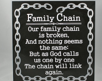 FAMILY CHAIN - Memorial Gift - In Memory Of - Loss of Loved One - Family Memorial - Sympathy Gift - Death of Relative - Loss of Relative