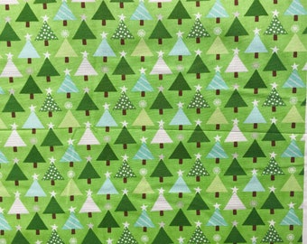 Joy Kate Spain trees green moda fabrics FQ or two