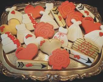 Bridal Shower Cookies - ONE Dozen